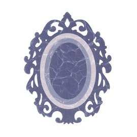 Sizzix Framelits conjunto com 3 padrões, bordas ornamentado / w Oval