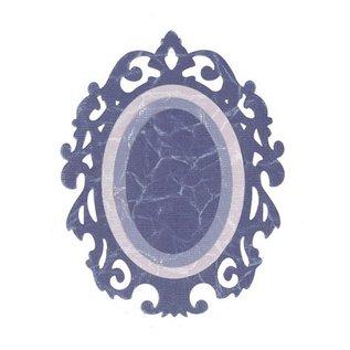 Sizzix Framelits Set met 3 patronen, Oval w / Sierlijke Randen