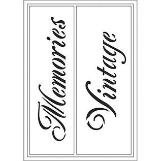 Schablonen, für verschiedene Techniken / Templates Fleksible skabeloner, Tidende 21x14,8 cm, Memories / Vintage, 1 stk.