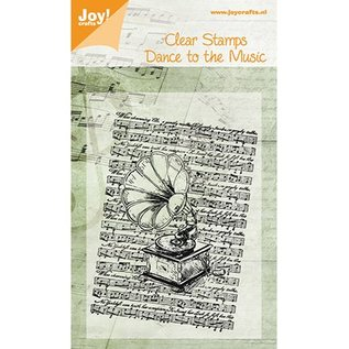 Joy!Crafts / Hobby Solutions Dies Joy Craft, Clear stamps, Old Record Player