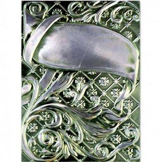 Spellbinders und Rayher 3D embossing stencil, M-Bossabilities, sierwervelingen, 12,7 x 17,8 cm, 1 Designs