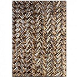 Spellbinders und Rayher 3D relief pochoir, M-Bossabilities, Basket Weave.