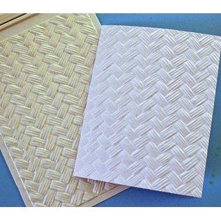 Spellbinders und Rayher 3D-Prägeschablone, M-Bossabilities, Basket Weave, 12,7 x 17,8 cm, 1 Designs.