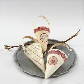 Komplett Sets / Kits 10 decoração do cone, H: 13 cm de altura