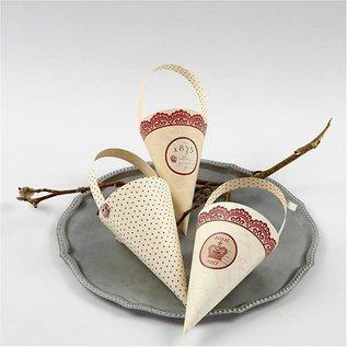Komplett Sets / Kits 10 Dekoration Kegel, H: 13 cm hoch