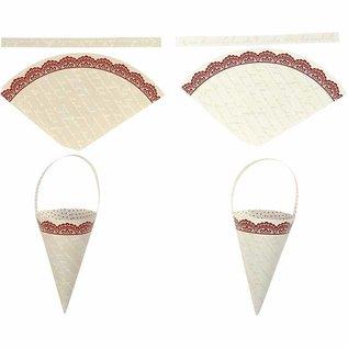 Komplett Sets / Kits 10 cone decoration, H: 13 cm high