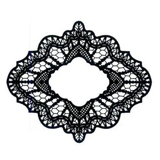 CREATIVE EXPRESSIONS und COUTURE CREATIONS Gummistempel, kreative udtryk, Delicate Lace (Lace)