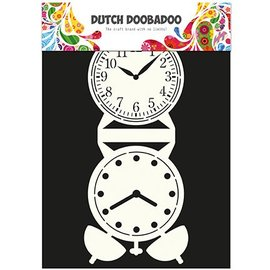 Dutch DooBaDoo Card Art - Schablone eine Standuhr
