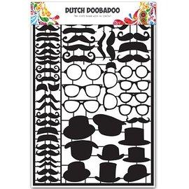Dutch DooBaDoo Korttype - Hollandsk Paper Art Sort overskæg