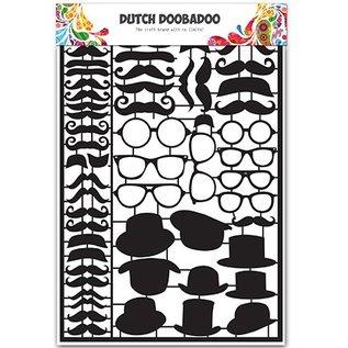 Dutch DooBaDoo Card Art - Dutch Paper Art Black Mustaches