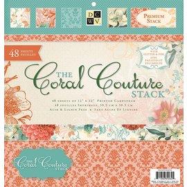 DCWV und Sugar Plum Designer block, Coral Couture Paper Stack