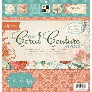 DCWV und Sugar Plum Ontwerper blok, Coral Couture Paper Stack