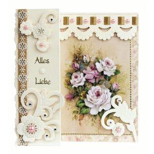BASTELSETS / CRAFT KITS Romantische Faltkarten, Blumenbouquets
