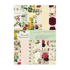DESIGNER BLÖCKE / DESIGNER PAPER Designer Block, A4, desenhos mágicos, Botanicals