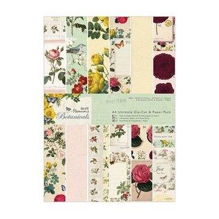 DESIGNER BLÖCKE / DESIGNER PAPER Designer Block, A4, conceptions magiques, Botanicals