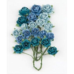 BLUMEN (MINI) UND ACCESOIRES Marianne Design Paper Roses Bright Blå