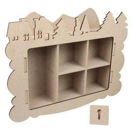 Objekten zum Dekorieren / objects for decorating Håndværk Kits MDF, indsamling boksen Vinter dekoration