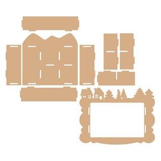 Objekten zum Dekorieren / objects for decorating Handcraft Kits MDF, collecting box, Winter decoration