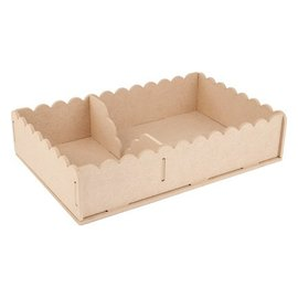 Objekten zum Dekorieren / objects for decorating Handwerk Kits MDF, container servetten 29 x 19 x 6cm