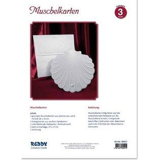 BASTELSETS / CRAFT KITS Bastelset für 3 geprägte Muschelkarten