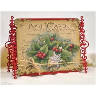 JUSTRITE AUS AMERIKA Justrite Christmas Postcard Cling Background Stamp