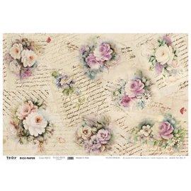 DECOUPAGE AND ACCESSOIRES Papier doux 50x70cm - Romance