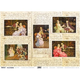 DECOUPAGE AND ACCESSOIRES Rice Paper 35 x 50cm - Canova´s Entertainments