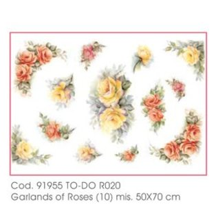 DECOUPAGE AND ACCESSOIRES Soft-Paper 50x70cm - Garlands of Roses