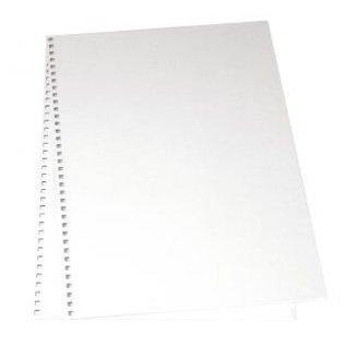 BASTELZUBEHÖR, WERKZEUG UND AUFBEWAHRUNG Copertina cartonata per l'album, 22x30, 5 cm, 2 pezzi in sacchetto, bianco