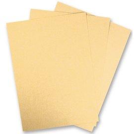 DESIGNER BLÖCKE / DESIGNER PAPER 5 ark Metallic pap, Ekstra KLASSE, i strålende guld farve! Ideel til presning og stansning!