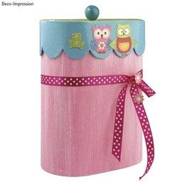 Objekten zum Dekorieren / objects for decorating conteneur Papier mâché, pétoncles, 8x13x16 cm, ovale, avec couvercle
