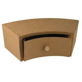 Objekten zum Dekorieren / objects for decorating Gabinete gaveta de papel mache, 30x12x10 cm, metade round 1 gaveta