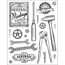 My paperworld (Viva Decor) Transparent Stempel, Vintage Werkzeuge