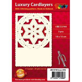KARTEN und Zubehör / Cards Luxus Kartenunterlage 1Set mit 3 Karten, 10,5 x 14,85 cm