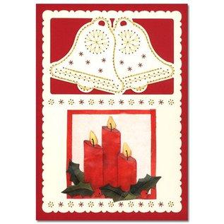 KARTEN und Zubehör / Cards Luksus kortlaget 1Indstil med 3 kort, 10 x 15 cm
