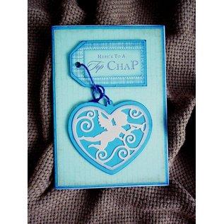 Marianne Design Stansning - og prægning stencil, filigränes hjerte med engel