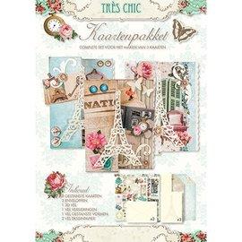 "Bücher und CD / Magazines ""Trés Chic"" Kit Craft fabricación de la tarjeta"