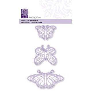 Cart-Us Stansning og prægning skabelon, 3 sommerfugle, 45-48-76 mm