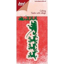 Joy!Crafts Stanzschablone, Weihnachtsmann mit Schlitte - Zugreifen bis der Vorrat reicht!