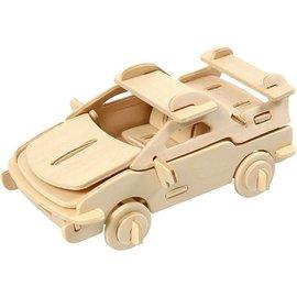 Objekten zum Dekorieren / objects for decorating 3D Puzzle, 13x9x6 LxWxH cm, plywood, auto, 1 pc.