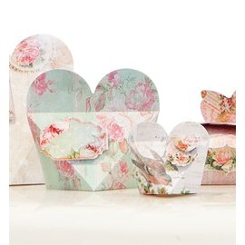 """Dekoration Schachtel Gestalten / Boxe ... Craft set voor 14 pakketten """"Shabby Chic"""""""