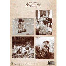 Nellie Snellen Imagens do vintage - folha A4