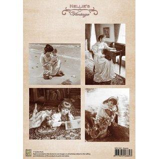 Nellie Snellen Vintage billeder - A4 ark