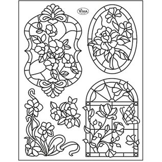 My paperworld (Viva Decor) Transparent Stempel, Tiffany Window