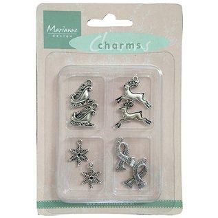 Embellishments / Verzierungen Metall - Charms 4x2 st. Winter