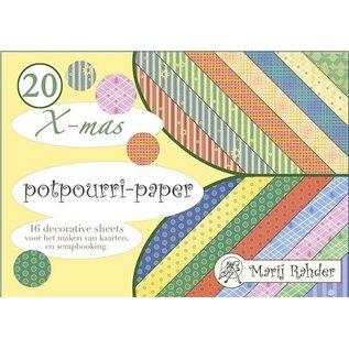 DESIGNER BLÖCKE / DESIGNER PAPER Ontwerper blok, A5-potpourri-papier