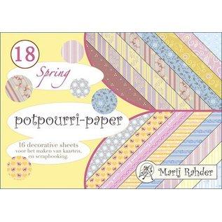 DESIGNER BLÖCKE / DESIGNER PAPER Designer blok, A5-potpourri-papir