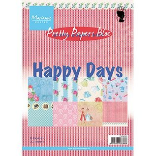 DESIGNER BLÖCKE / DESIGNER PAPER Pretty Papers, A5, Happy Days, 4x 8 Motive