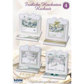 BASTELSETS / CRAFT KITS jeu de matériel pour 4 noble carte de mariage