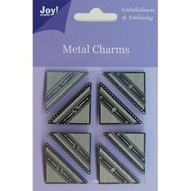 Embellishments / Verzierungen Joy Crafts, Metal Charms hoek, 8 stuks